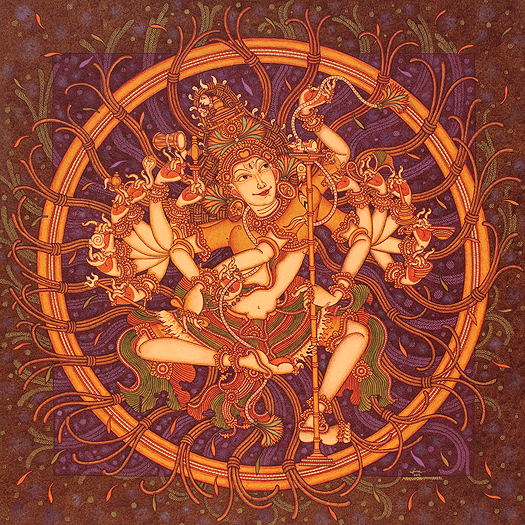 A stunning 4' x 4' acrylic on canvas of Nataraja by Manikandan Punnakkal, available on StoryLTD Source: https://www.storyltd.com/ItemV2.aspx?iid=39918