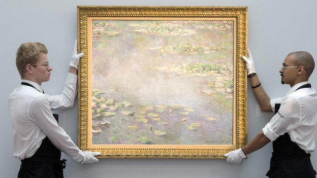 Monet's Nympheas  Image Credit: BBC News Online , http://www.bbc.com/news/entertainment-arts-27991977