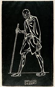Dandi March (Bapuji), 1930 Source: http://www.artnewsnviews.com/view-article.php?article=nandalal-bose&iid=22&articleid=558