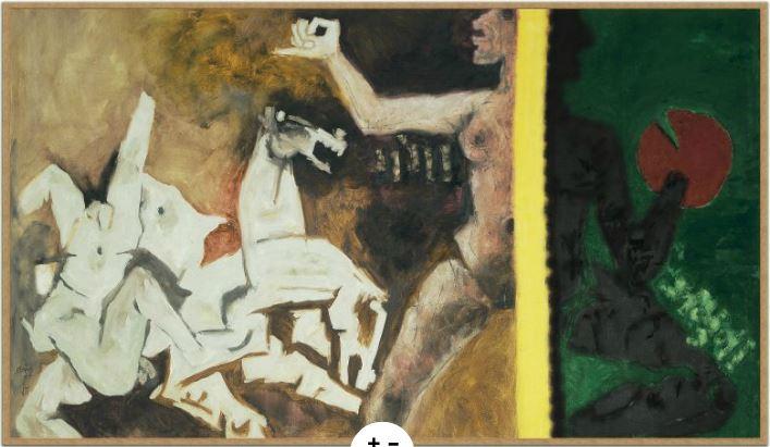 MF Husain's 'Ganga Jamuna' (1971)  Source: Peabody Essex Museum Website