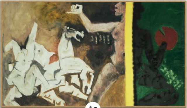 MF Husain's 'Ganga Jamuna' (1971)  Source: Peabody Essex Museum Website