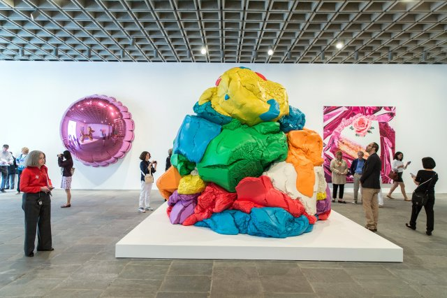 """Jeff Koons' Sculpture, """"Play-Dough"""", which took 20 years to complete Image Credit: Fred R.Conrad for The New York Times"""