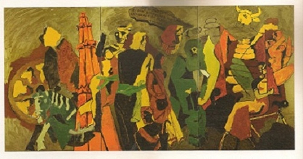 M.F. Husain, Language of Stone, 2008-2011. Courtesy of Usha Mittal © Victoria and Albert Museum, London