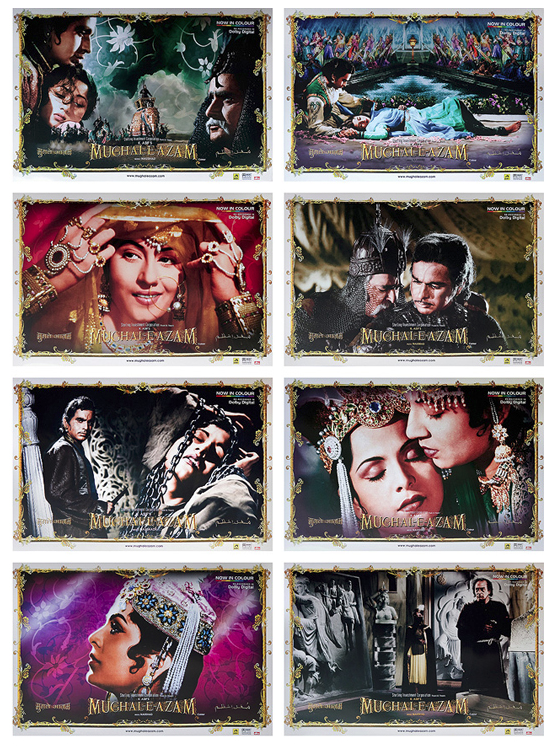 Set of 8 lobby cards from Mughal-e-Azam.  Available till 26 June on StoryLTD.