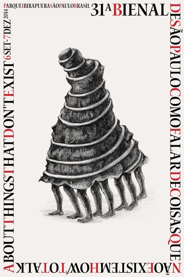 Official poster design by  participating artist Prabhakar Pachpute Credits: The Biennial