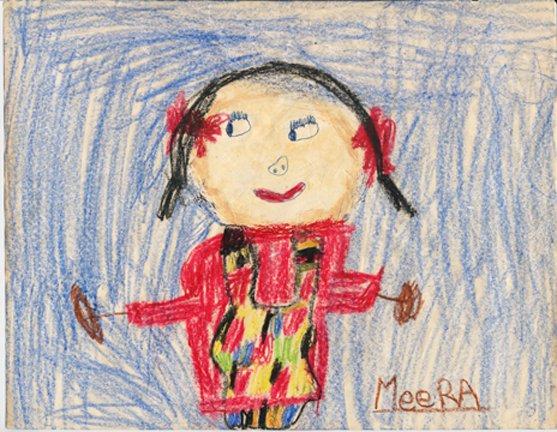 Meera Sethi, Self-Portrait, Age 5