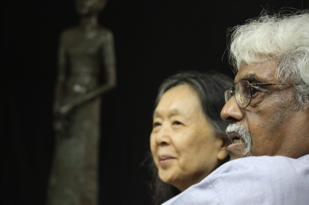 """A. Ramachandran, Manisha's guru and mentor, with his wife Chameli. Says Manisha, """"Introspective scrutiny and deep understanding. This is what Sir and Chameli aunty have given me for the thirty years that I have known them."""""""