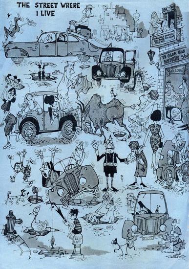 """The Street Where I Live"" by Mario Miranda Digital print on paper"