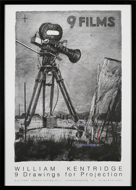 9 FILMS - WILLIAM KENTRIDGE 9 DRAWINGS FOR PROJECTION, Old Fort, Constitution Hill, Johannesburg, 22 -24 March 2004, Exhibition Poster
