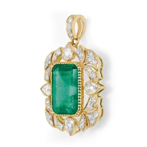 A Colombian Emerald and Diamond Pendant (on auction)