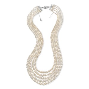 A Fve Strand Natural Pearl Necklace