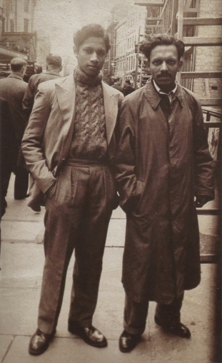 Ribeiro and Souza in London, 1950. © Marsha Ribeiro